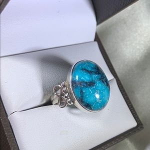 sterling Jewelry - Vintage sterling silver turquoise ring